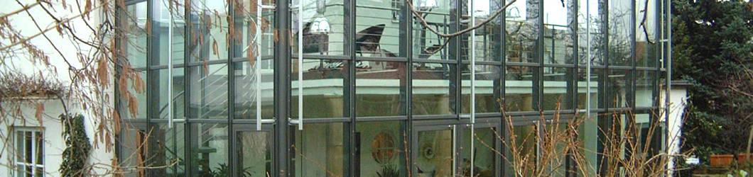 Anbau eines Glashauses
