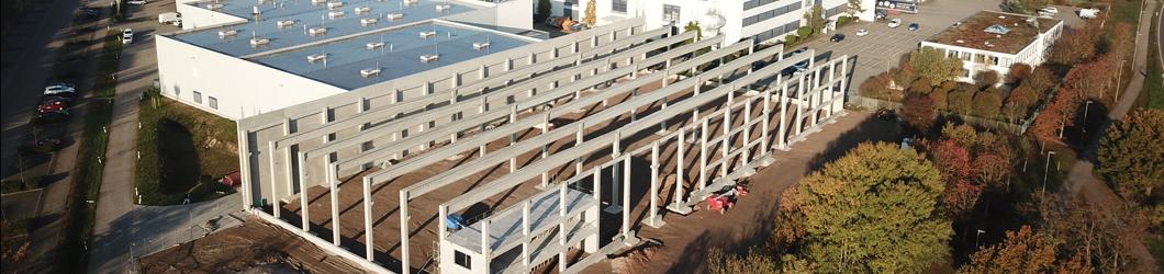 Erweiterung einer Produktionshalle   St. Leon Rot